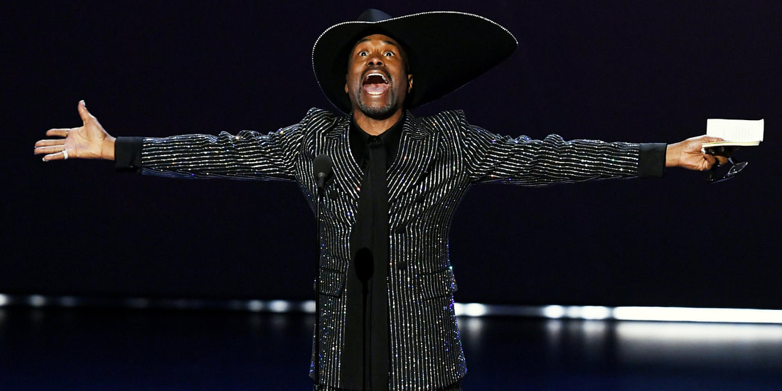 Billy Porter winning an Emmy